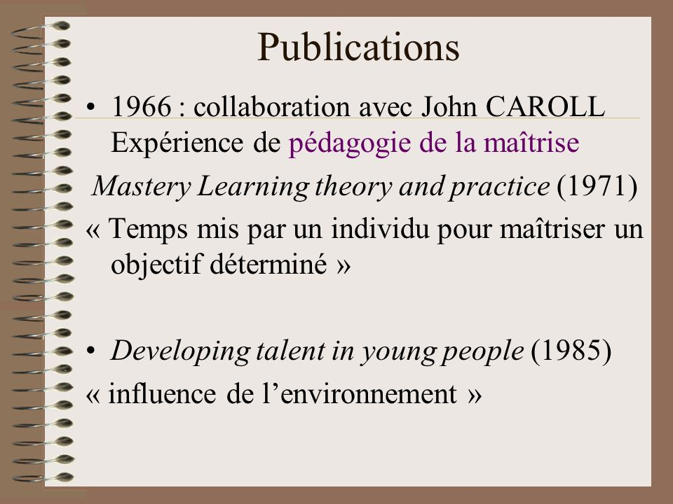 Mastery Learning theory and practice (1971)