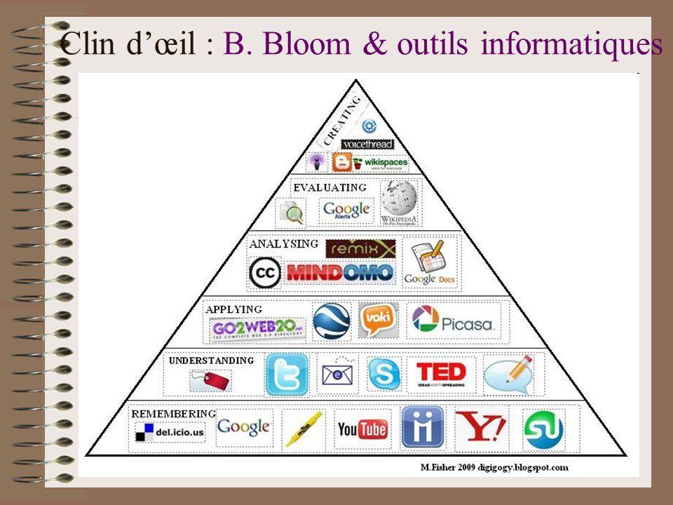Clin d'œil : B. Bloom & outils informatiques