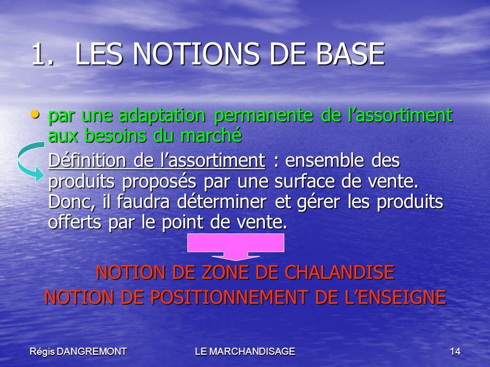 LES NOTIONS DE BASEpar une adaptation permanente de l'assortiment aux besoins du marché.