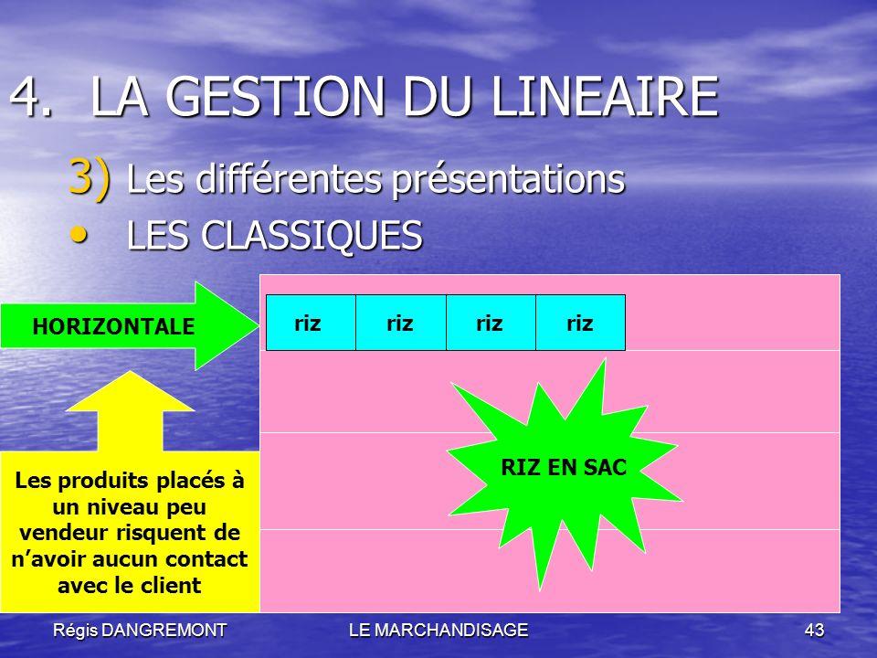 LA GESTION DU LINEAIRE Les différentes présentations LES CLASSIQUES