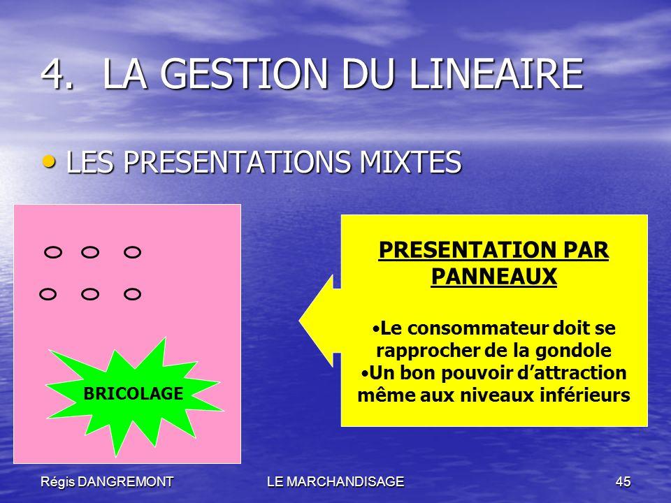 LA GESTION DU LINEAIRE LES PRESENTATIONS MIXTES