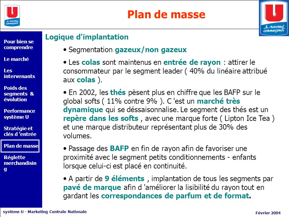 Plan de masse Logique d implantation Segmentation gazeux/non gazeux
