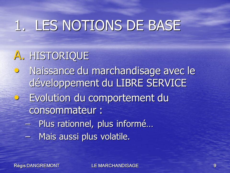 LES NOTIONS DE BASE HISTORIQUE