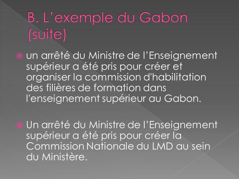 B. L'exemple du Gabon (suite)