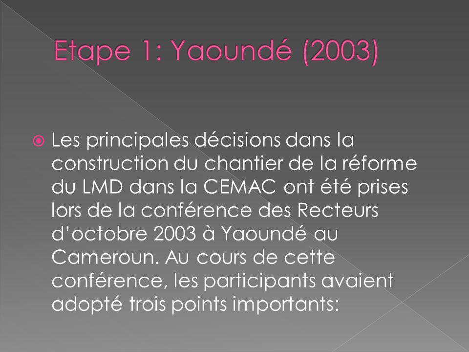Etape 1: Yaoundé (2003)