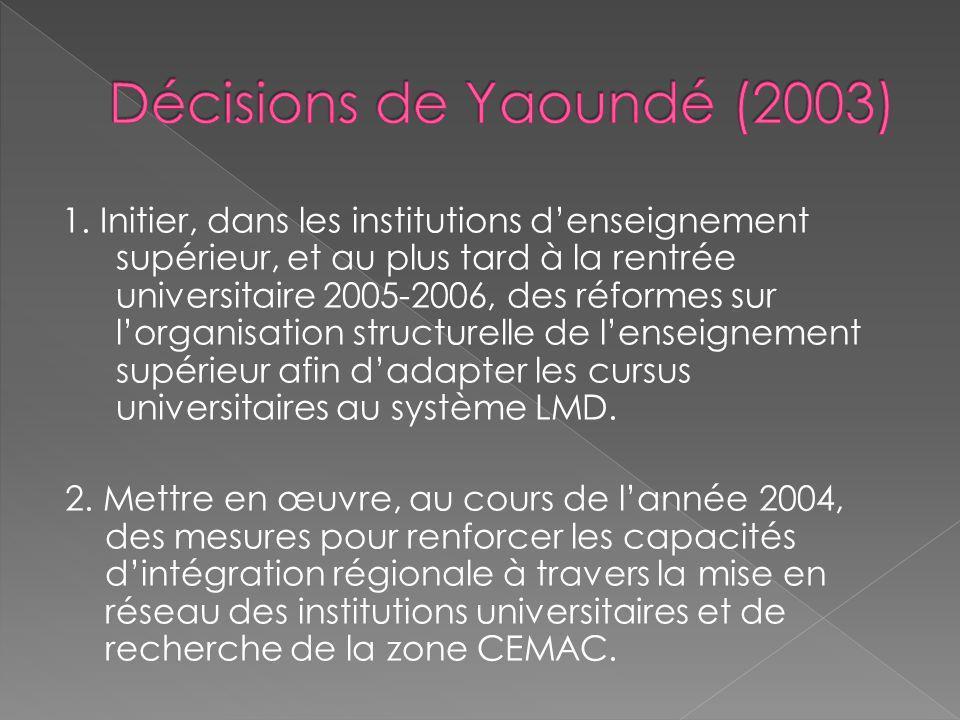 Décisions de Yaoundé (2003)