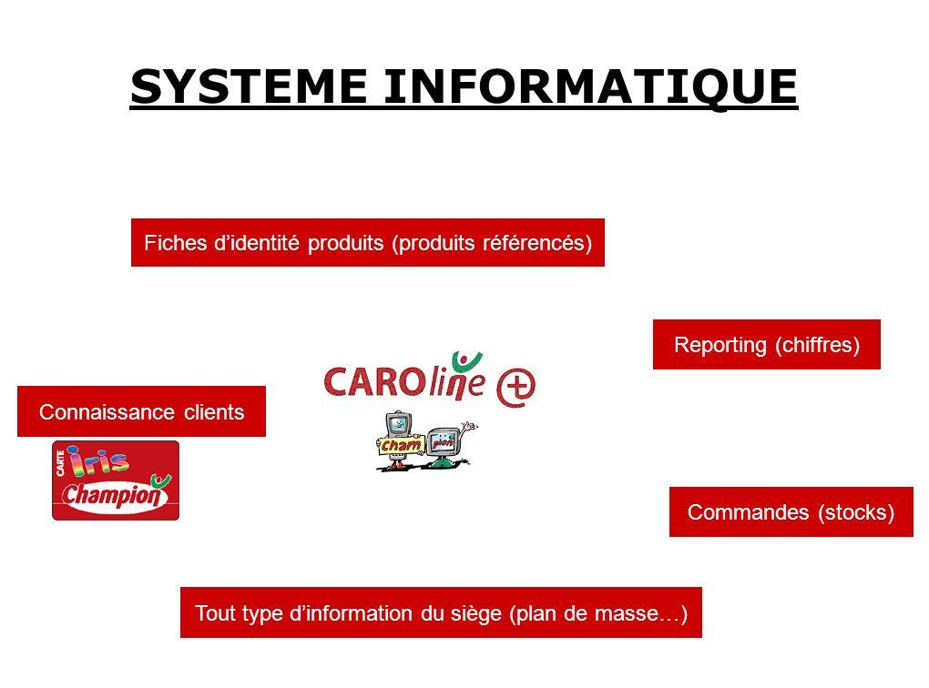 SYSTEME INFORMATIQUE Fiches d'identité produits (produits référencés)