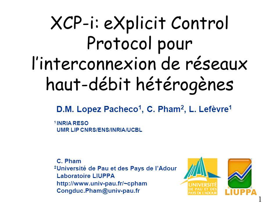 XCP-i: eXplicit Control Protocol pour l'interconnexion de réseaux haut-débit hétérogènes