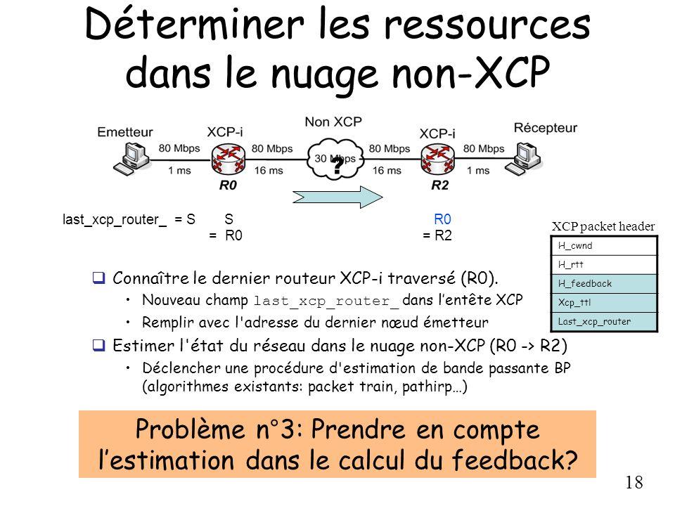 Déterminer les ressources dans le nuage non-XCP