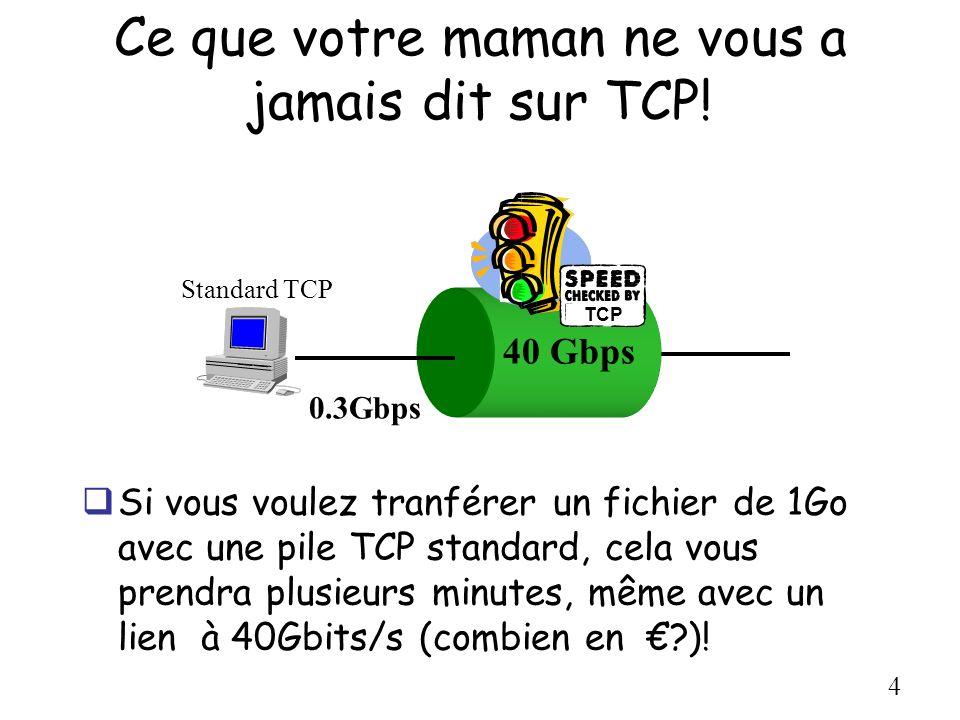Ce que votre maman ne vous a jamais dit sur TCP!