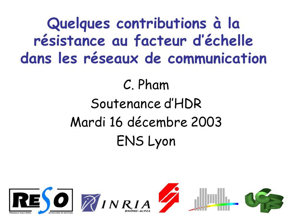 C. Pham Soutenance d'HDR Mardi 16 décembre 2003 ENS Lyon