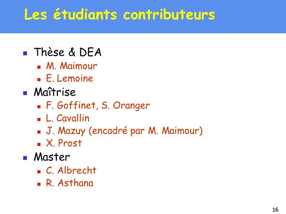 Les étudiants contributeurs