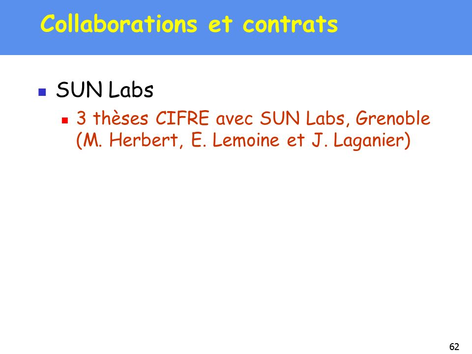 Collaborations et contrats