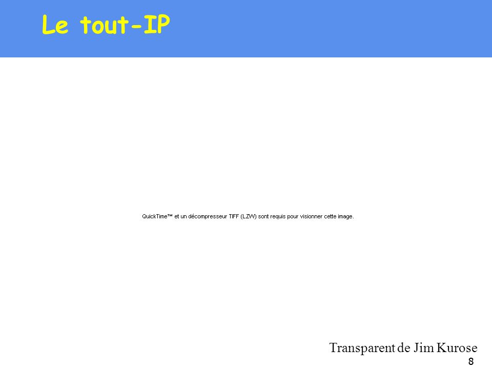 Le tout-IP Transparent de Jim Kurose