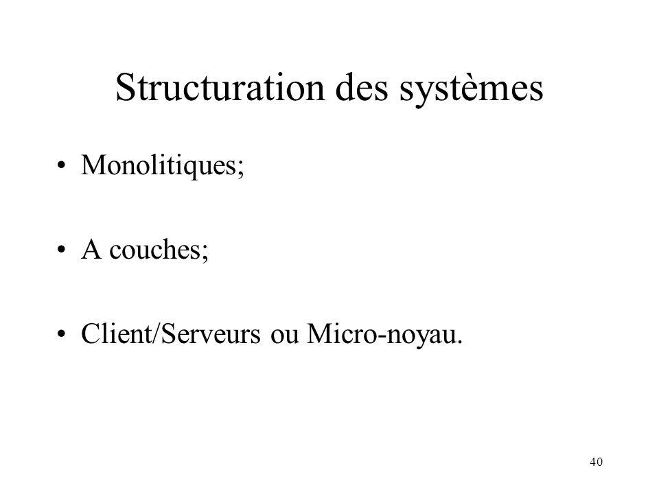 Structuration des systèmes
