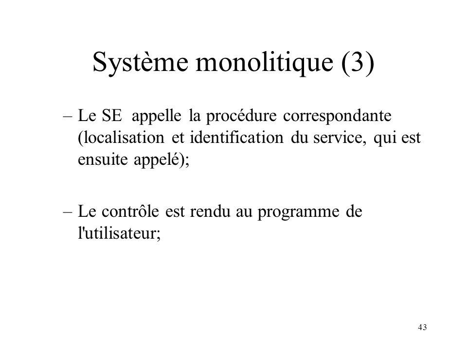Système monolitique (3)
