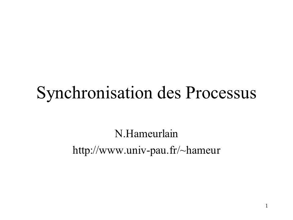Synchronisation des Processus