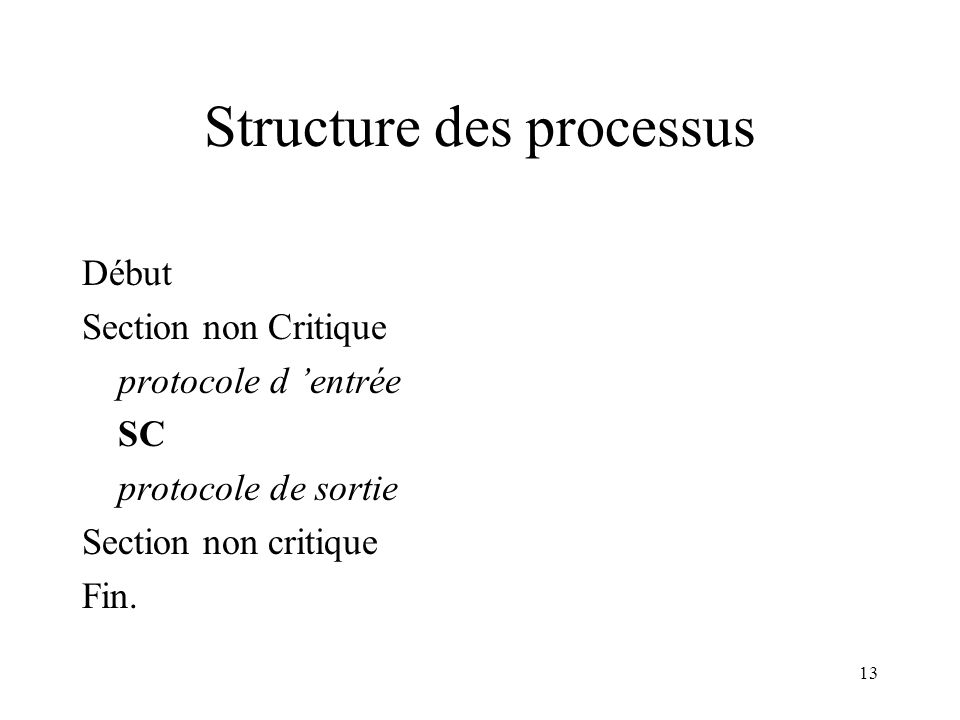 Structure des processus