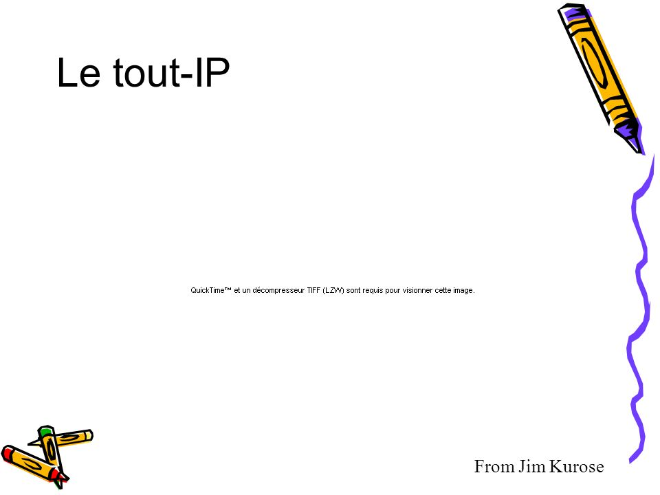 Le tout-IP From Jim Kurose