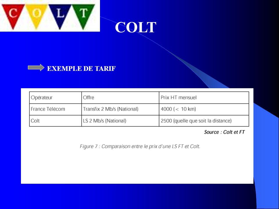 COLT EXEMPLE DE TARIF