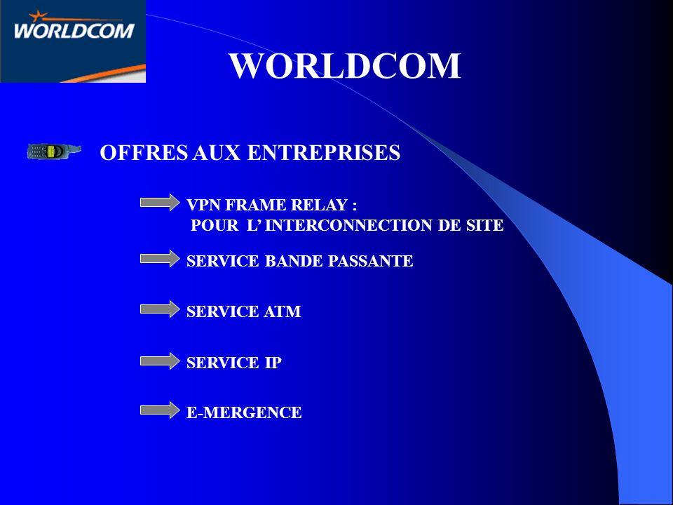 WORLDCOM OFFRES AUX ENTREPRISES VPN FRAME RELAY :