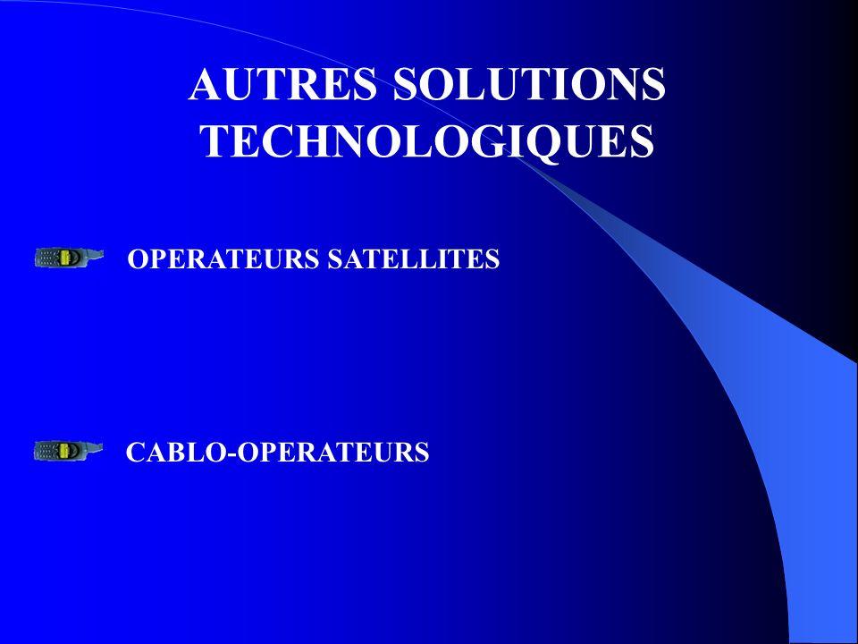 AUTRES SOLUTIONS TECHNOLOGIQUES OPERATEURS SATELLITES CABLO-OPERATEURS