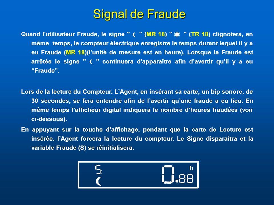 Signal de Fraude