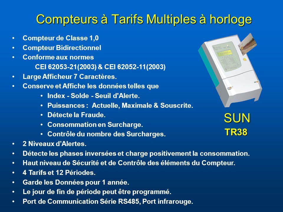 Compteurs à Tarifs Multiples à horloge