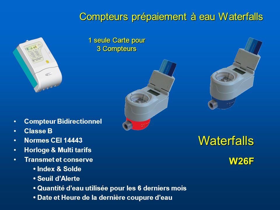 Compteurs prépaiement à eau Waterfalls