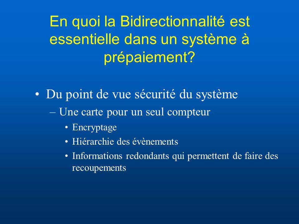 En quoi la Bidirectionnalité est essentielle dans un système à prépaiement