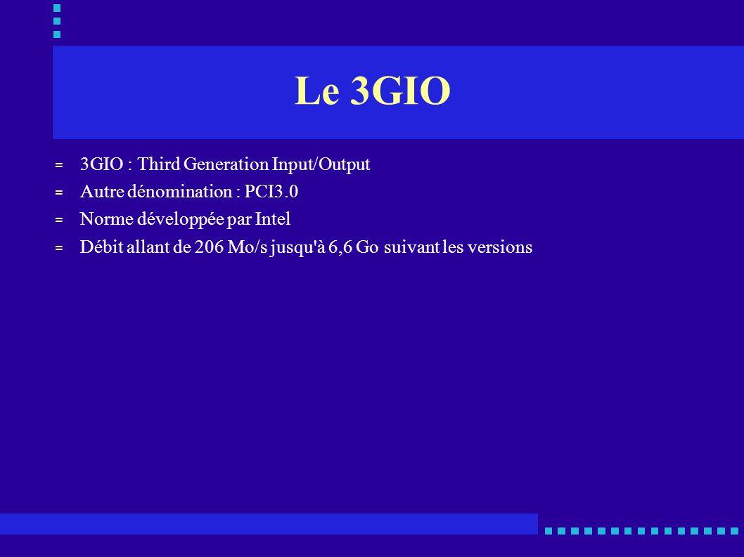 Le 3GIO 3GIO : Third Generation Input/Output