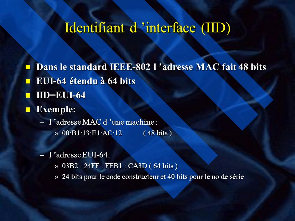Identifiant d 'interface (IID)
