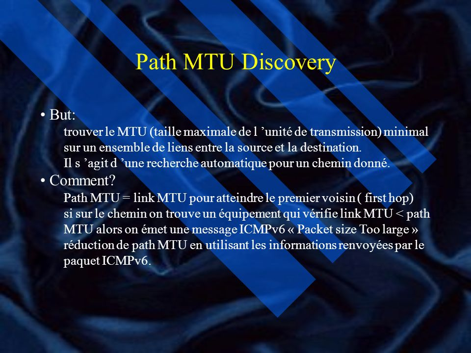 Path MTU Discovery But: Comment
