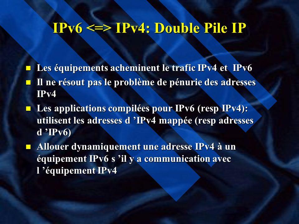 IPv6 <=> IPv4: Double Pile IP