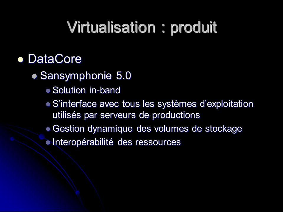 Virtualisation : produit
