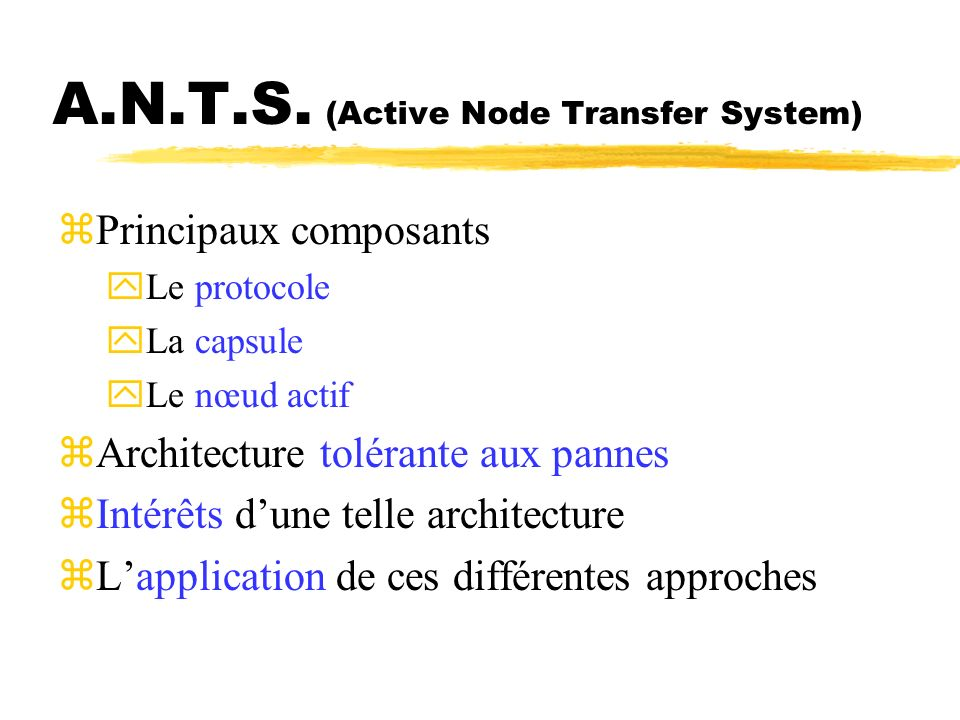A.N.T.S. (Active Node Transfer System)