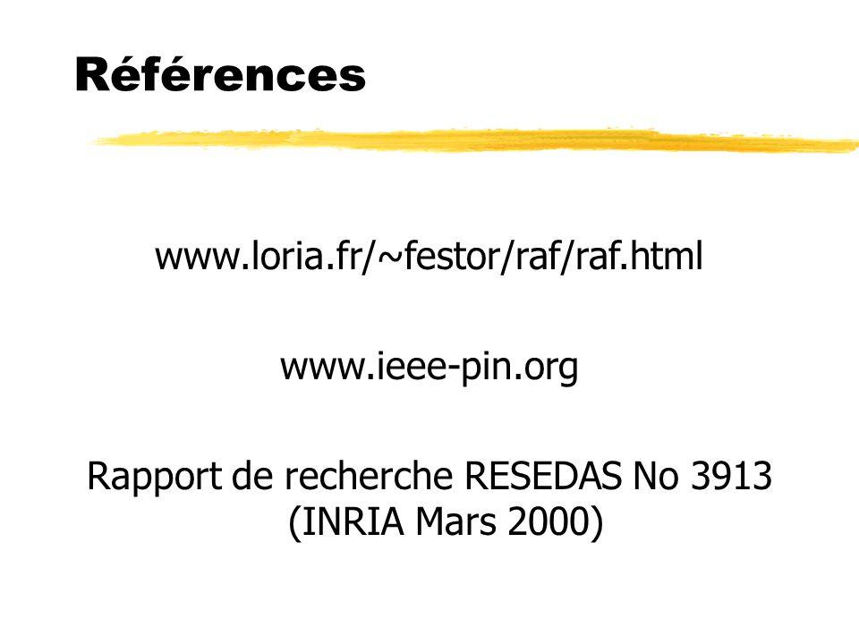 Rapport de recherche RESEDAS No 3913 (INRIA Mars 2000)