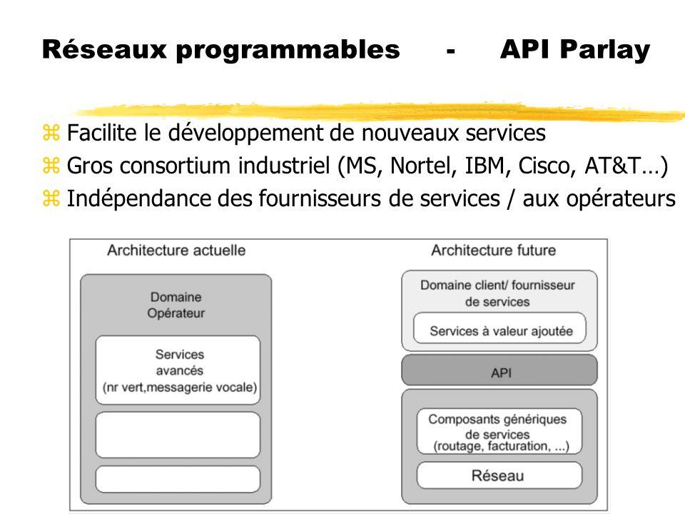 Réseaux programmables - API Parlay