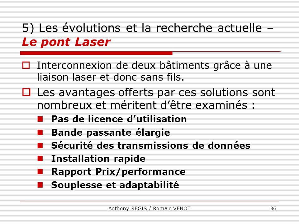 5) Les évolutions et la recherche actuelle – Le pont Laser