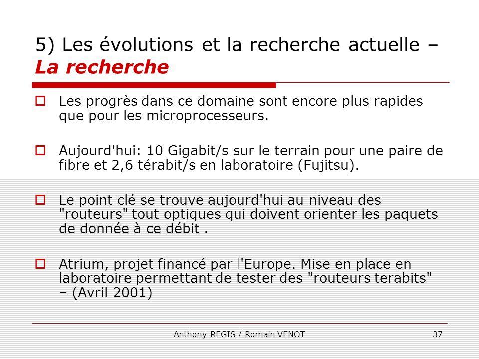 5) Les évolutions et la recherche actuelle – La recherche