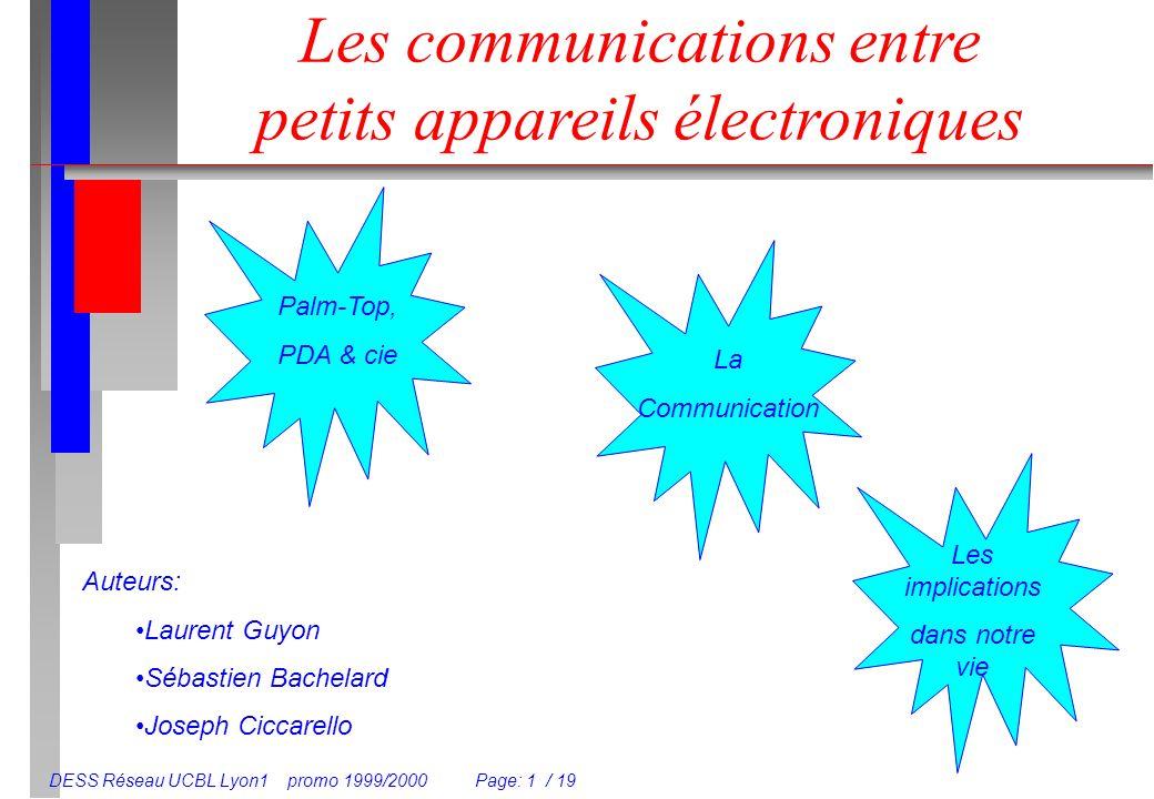 Les communications entre petits appareils électroniques
