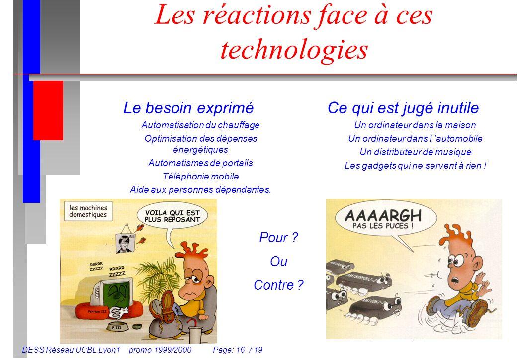 Les réactions face à ces technologies