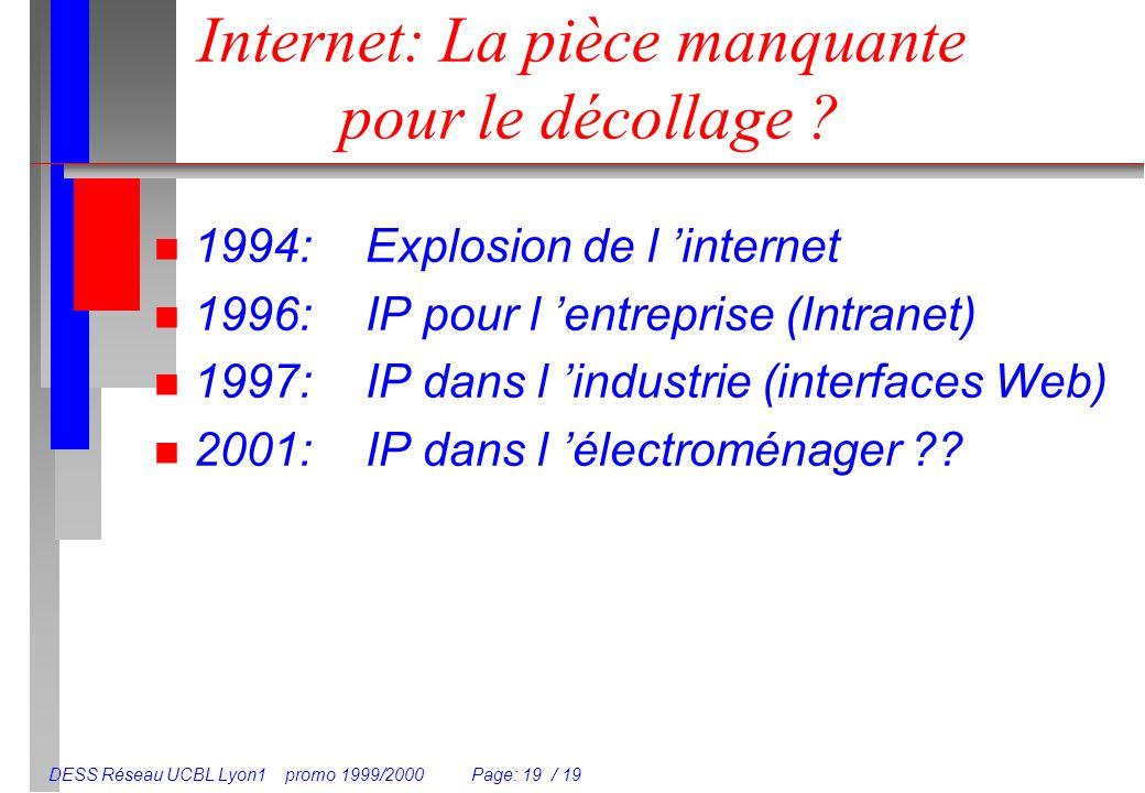Internet: La pièce manquante pour le décollage