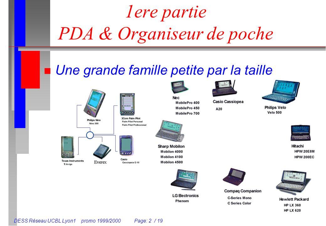 1ere partie PDA & Organiseur de poche