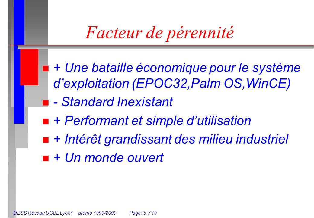 Facteur de pérennité + Une bataille économique pour le système d'exploitation (EPOC32,Palm OS,WinCE)
