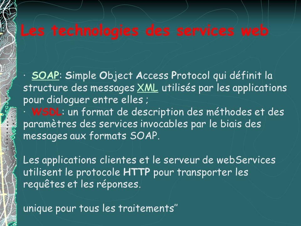 Les technologies des services web