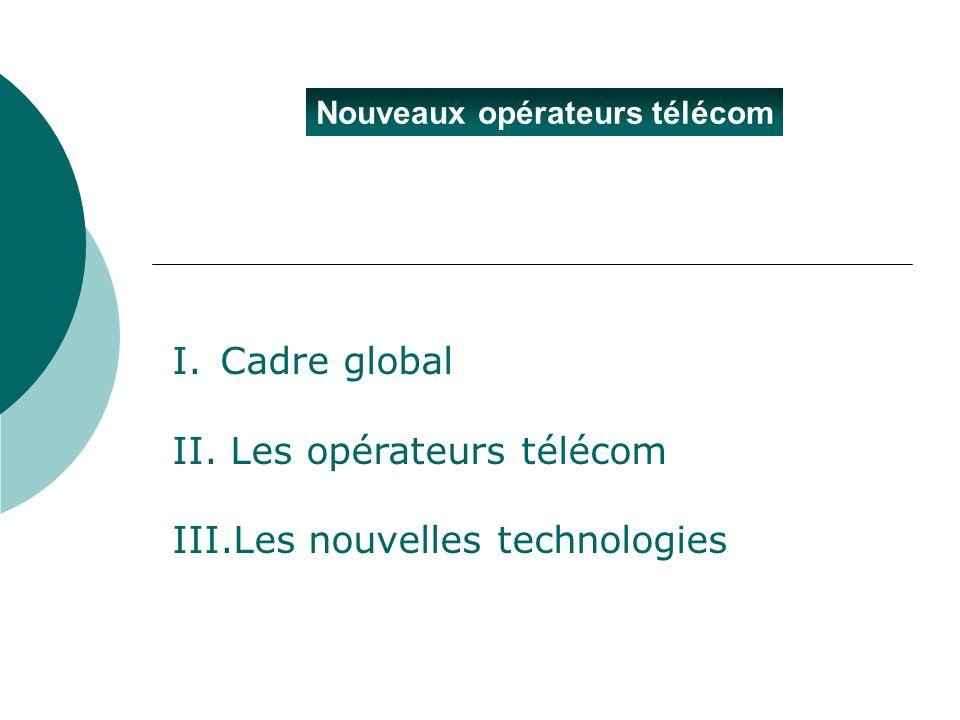 II. Les opérateurs télécom III.Les nouvelles technologies