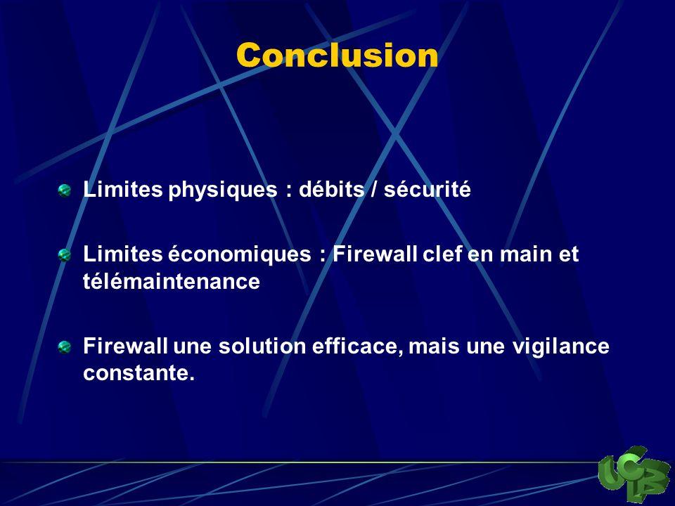 Conclusion Limites physiques : débits / sécurité
