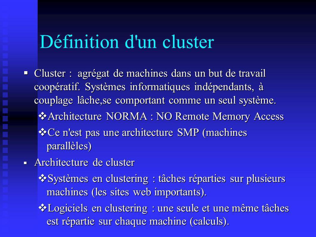 Définition d un cluster