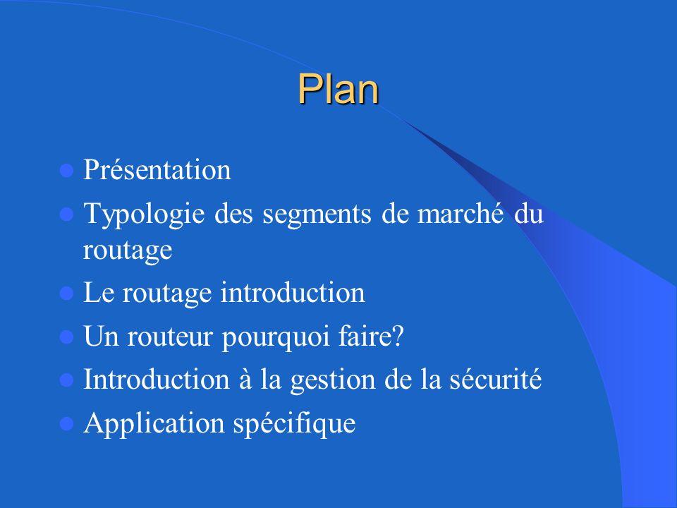 Plan Présentation Typologie des segments de marché du routage